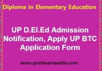 UP D.El.Ed Application Form 2020