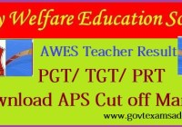 AWES Army Public School PGT TGT PRT Result 2020
