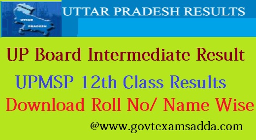 UP Board Intermediate Result 2019