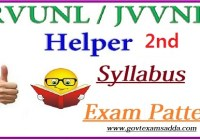 JVVNL Helper 2nd Syllabus 2020