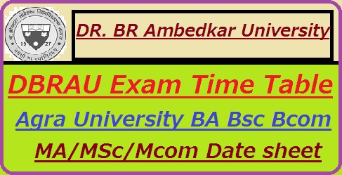 Agra University Time Table 2019