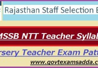 RSMSSB NTT Teacher Syllabus 2020