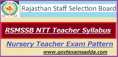 RSMSSB NTT Teacher Syllabus 2018