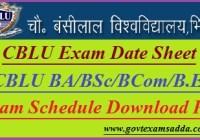 CBLU Date Sheet 2019-20