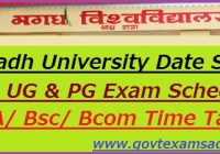 Magadh University Date Sheet 2019