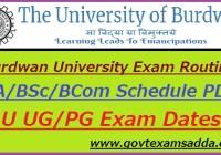 Burdwan University Routine 2020