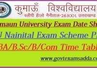Kumaun University Exam Date Sheet 2019-20