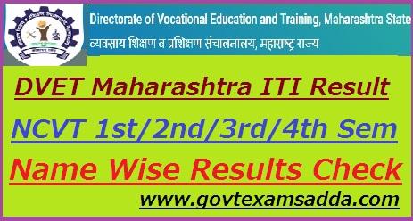DVET ITI Maharashtra Result 2019