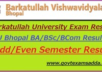 Barkatullah University Result 2018-19