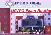 Gour Banga University Exam Routine 2020