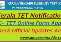 Kerala TET Notification 2021