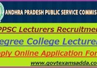 APPSC Lecturers Recruitment 2020