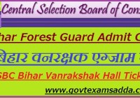 Bihar Police Forest Guard Admit Card 2020