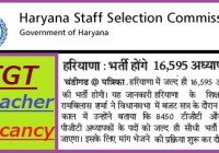 Haryana TGT Teacher Recruitment 2019