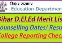 Bihar D.El.Ed Merit List 2019