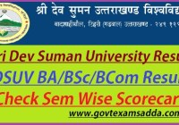 Sri Dev Suman University Result 2019