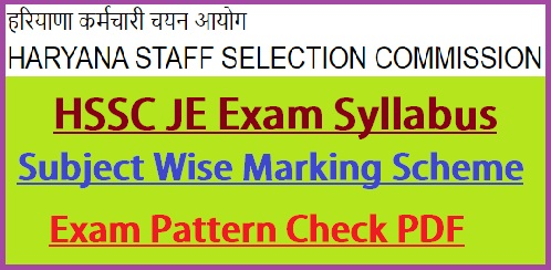 HSSC Junior Engineer Syllabus 2021