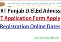SCERT Punjab D.El.ED ETT Admission 2021