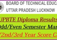 UP Polytechnic Diploma Result 2021
