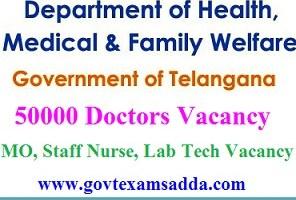 Telangana 50000 Doctors Recruitment 2021