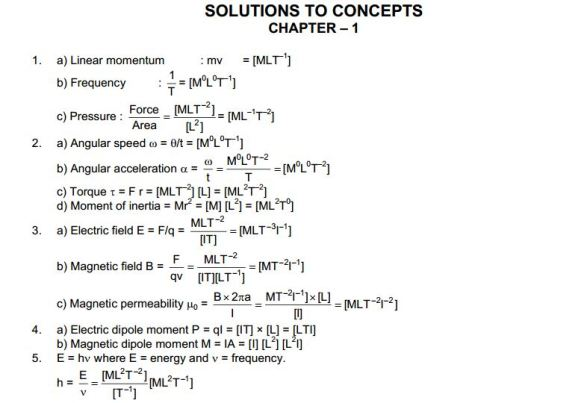 HC Verma chapter 1 solution