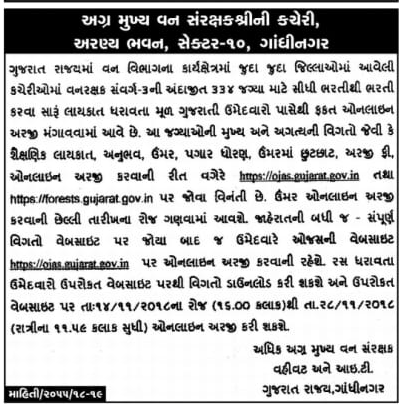 Ojas Vanrakshak (Forest Guard) Exam Date 2018 @ ojas