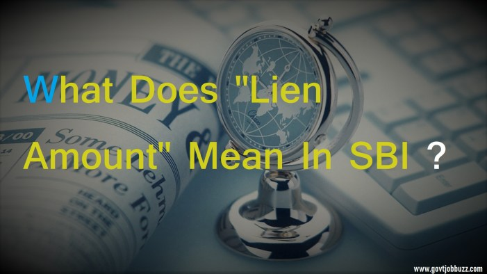 Lien Amount SBI : Meaning And How to clear lien amount ? 1