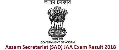 Assam Secretariat Result 2018