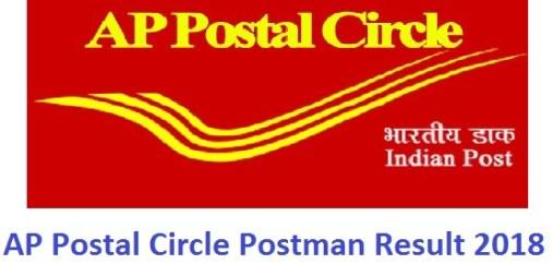 AP Postal Circle Postman Result 2018