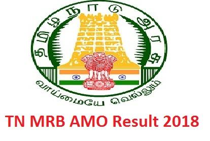 TN MRB AMO Result 2018