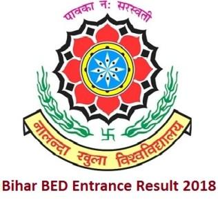 Bihar BED Entrance Result 2018