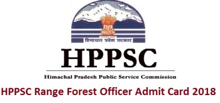 HPPSC Range Forest Officer Admit Card 2018