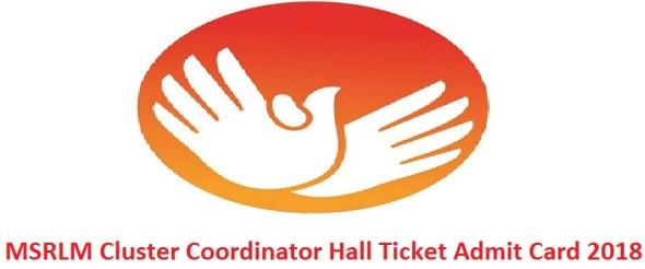 MSRLM Cluster Coordinator Hall Ticket Admit Card 2018