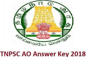 TNPSC AO Answer Key 2018