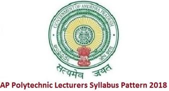 AP Polytechnic Lecturers Syllabus Pattern 2018