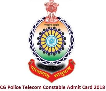 CG Police Telecom Constable Admit Card 2018