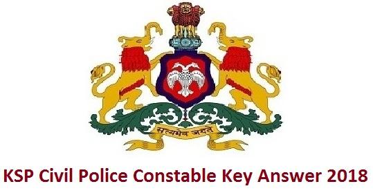 KSP Civil Police Constable Key Answer 2018