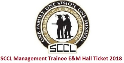 SCCL Management Trainee E&M Hall Ticket 2018