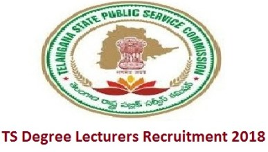 TS Degree Lecturers Recruitment 2018