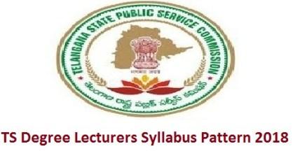 TS Degree Lecturers Syllabus Pattern 2018
