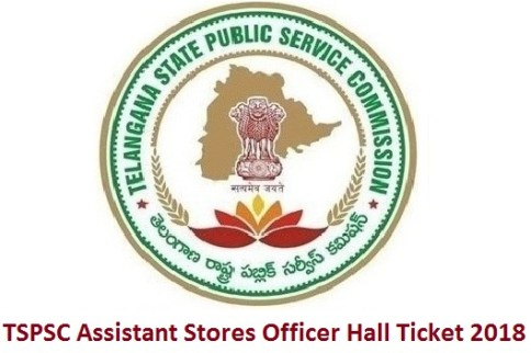 TSPSC Assistant Stores Officer Hall Ticket 2018