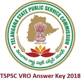 TSPSC VRO Answer Key 2018