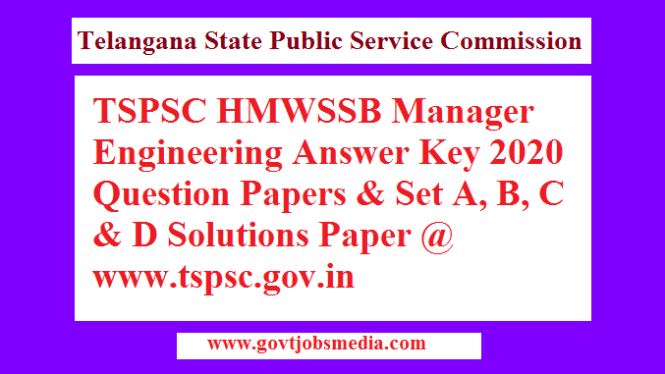 HMWSSB Answer Key 2020