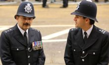 Two policeman in formal uniform