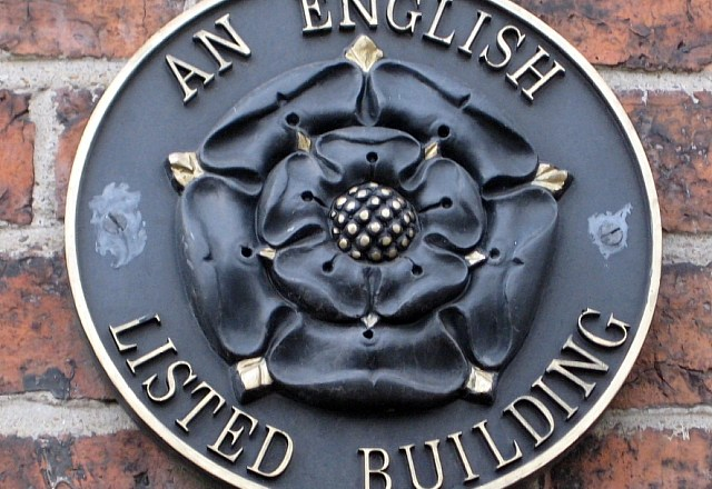 listed building sign
