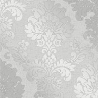 Fine Decor Quartz Damask Silver Glitter Wallpaper