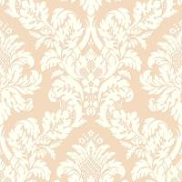 Pear Tree Fabric Damask Blush/Rose Gold Glitter Wallpaper