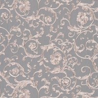 Versace Barocco Floral Silver/Grey Glitter Wallpaper - 34326-5