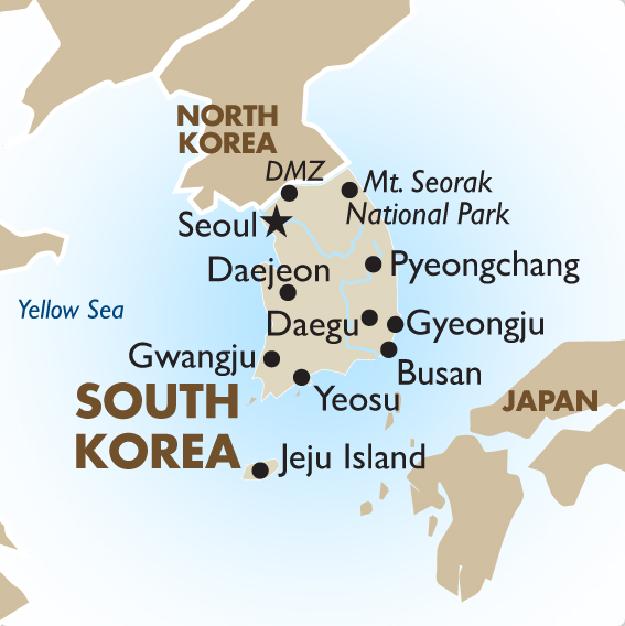 Korean Mountain Ranges Map