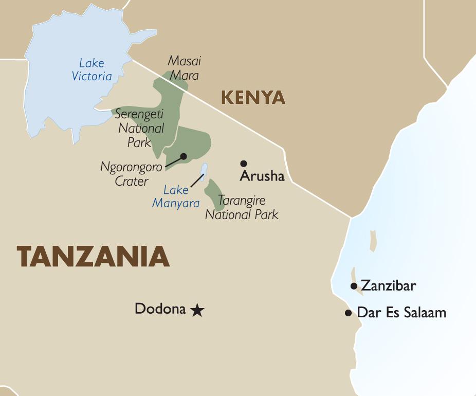African Map Zanzibar Map